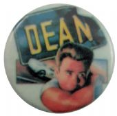 James Dean - 'James and Car' Button Badge